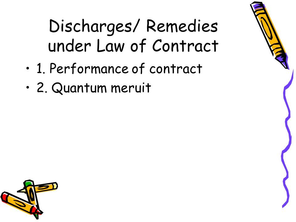 Discharges/ Remedies under Law of Contract