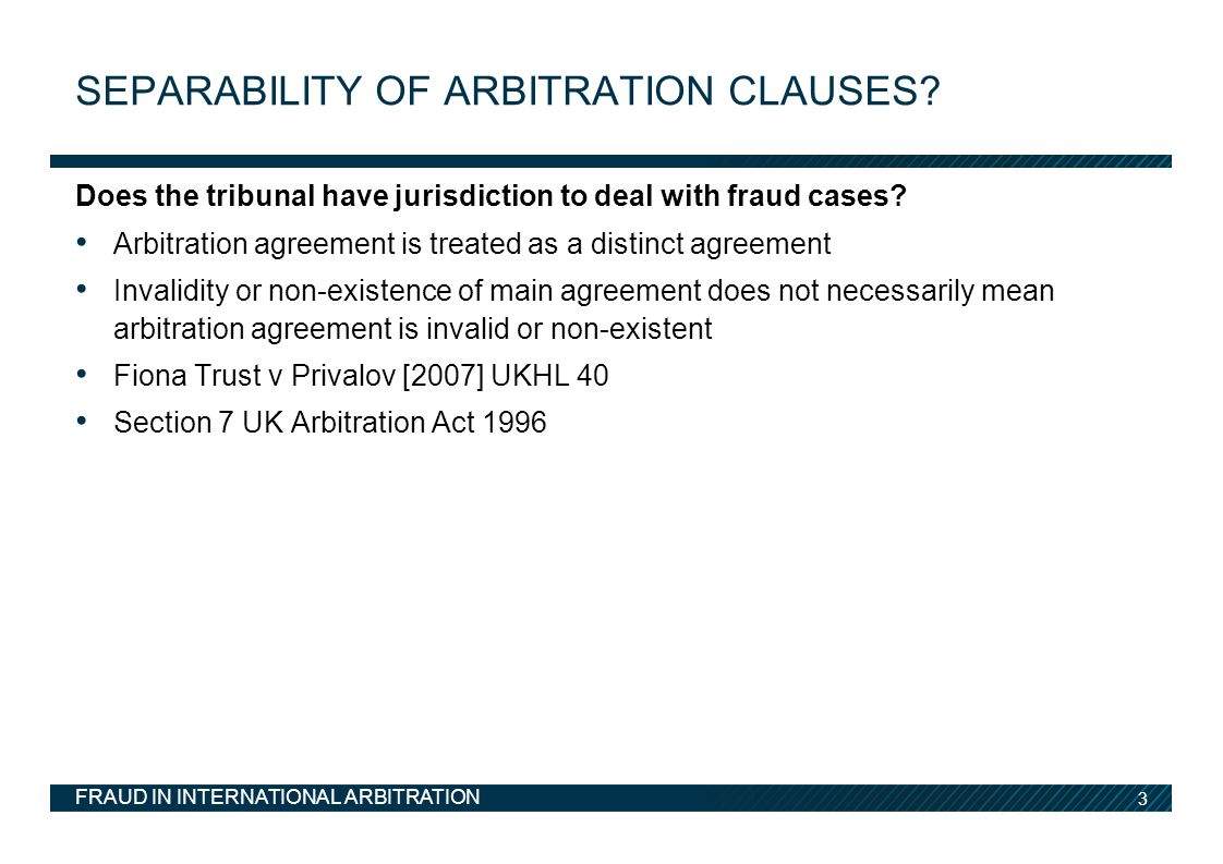 Separability of arbitration clauses