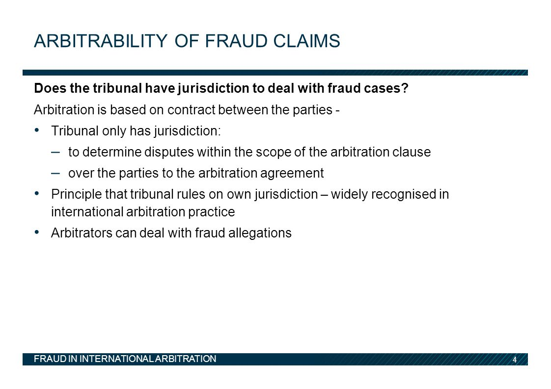 Arbitrability of fraud claims