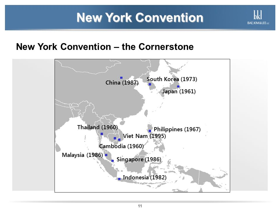 New York Convention New York Convention – the Cornerstone