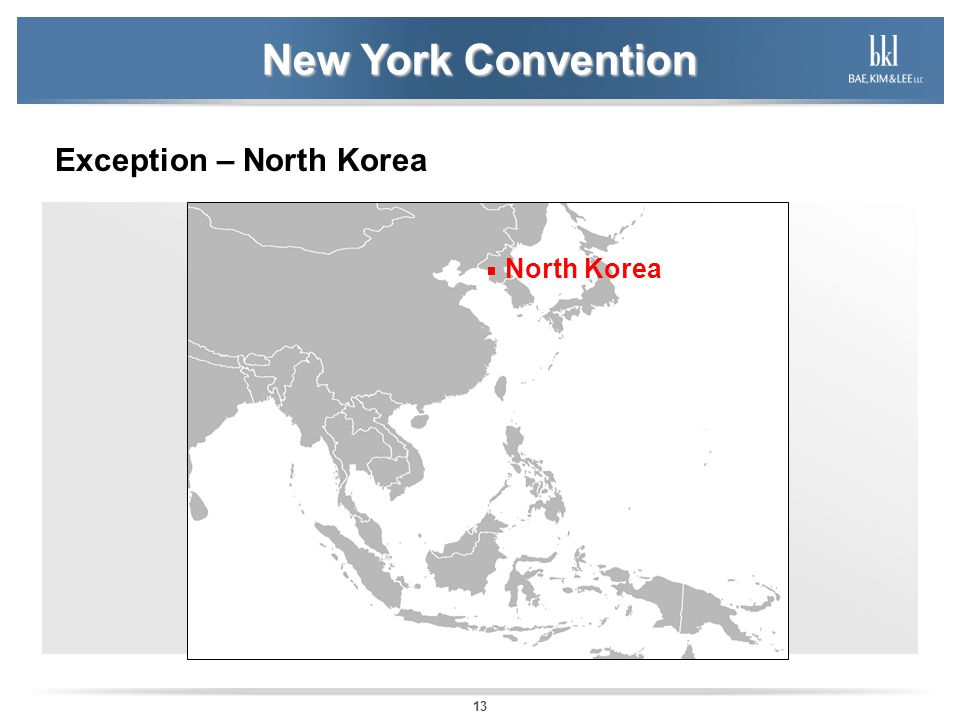 New York Convention Exception – North Korea North Korea