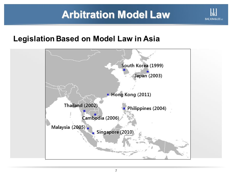 Arbitration Model Law Legislation Based on Model Law in Asia