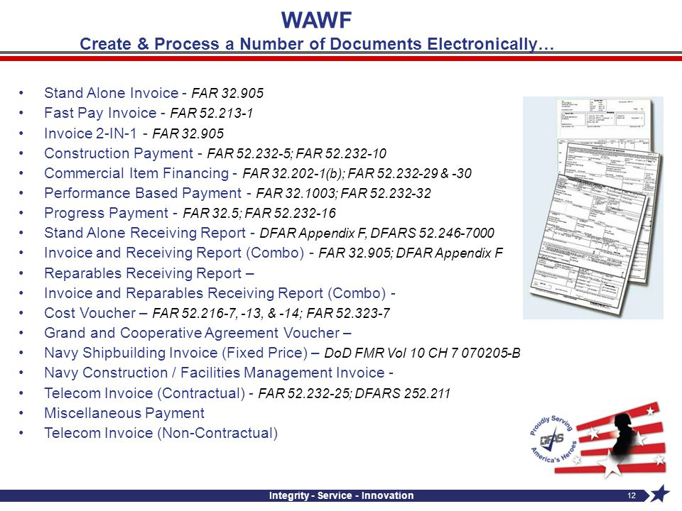 WAWF Create & Process a Number of Documents Electronically…