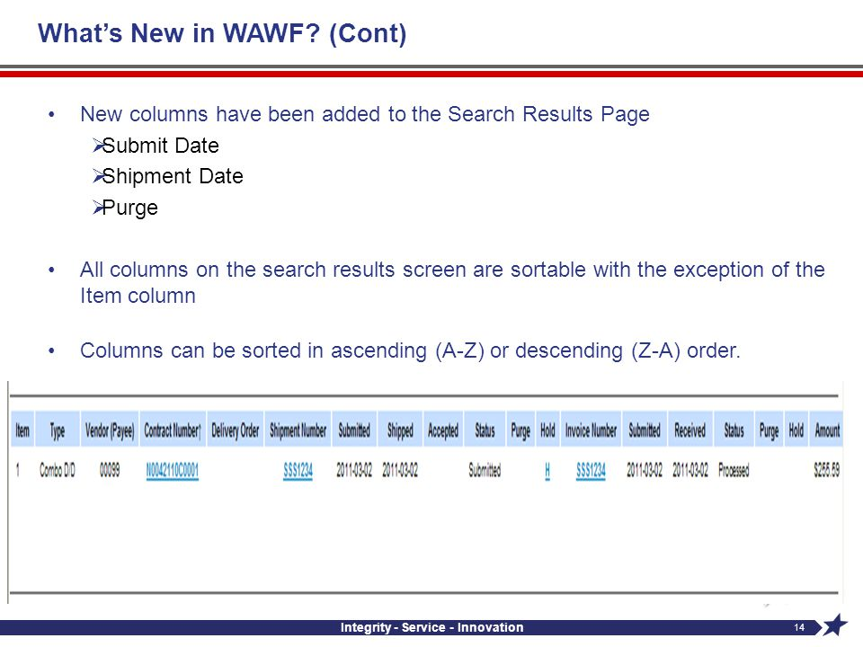 What's New in WAWF (Cont)