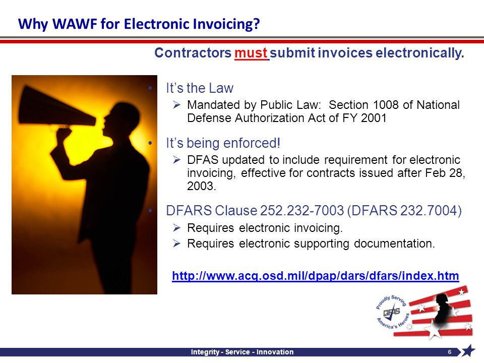 Why WAWF for Electronic Invoicing