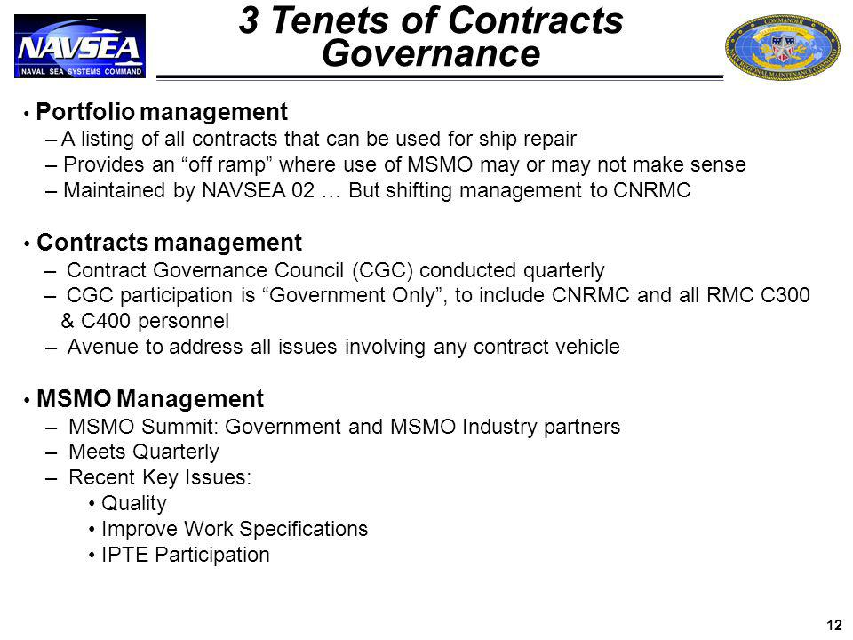 3 Tenets of Contracts Governance