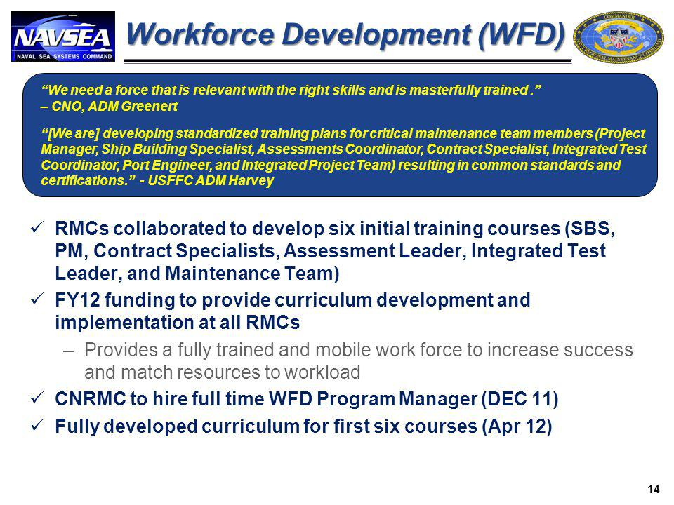 Workforce Development (WFD)