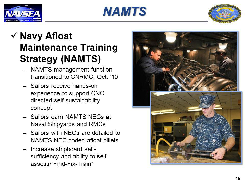 NAMTS Navy Afloat Maintenance Training Strategy (NAMTS)