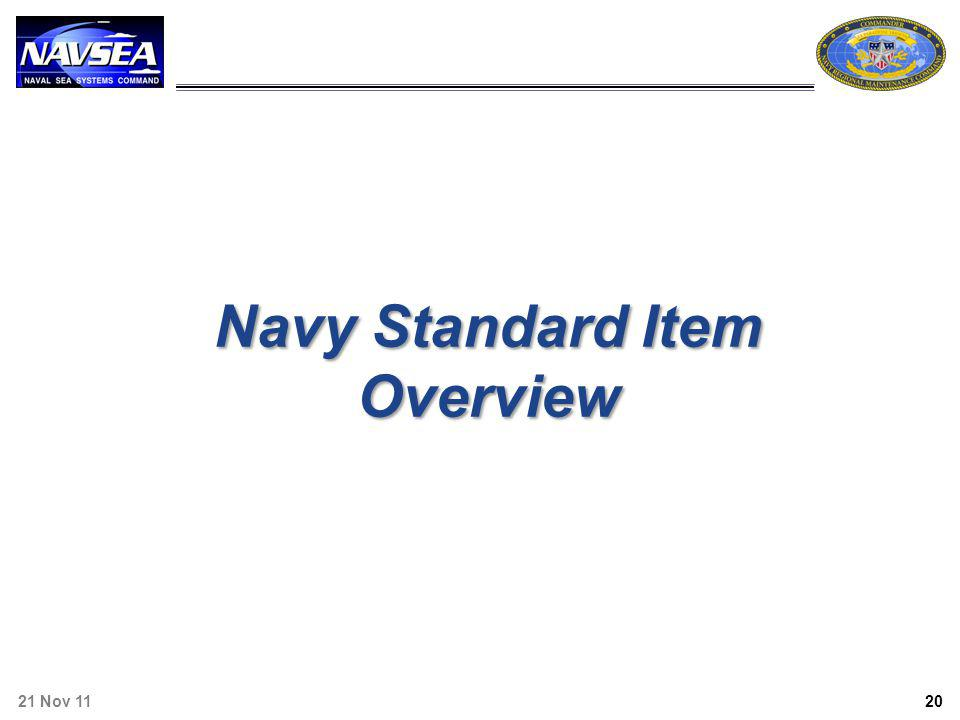 Navy Standard Item Overview