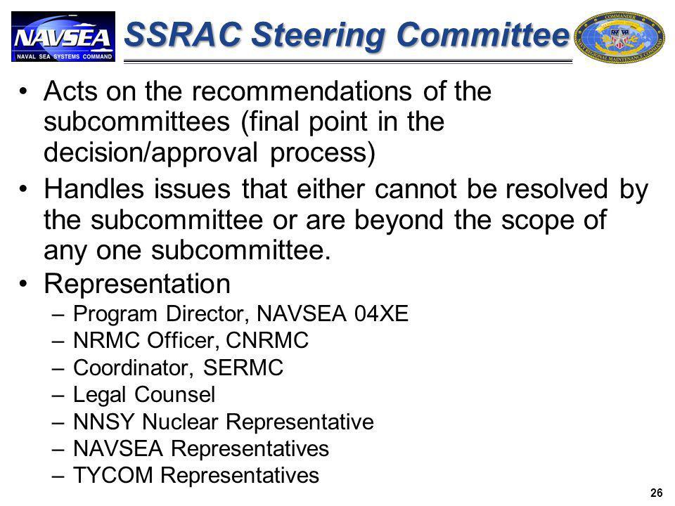 SSRAC Steering Committee