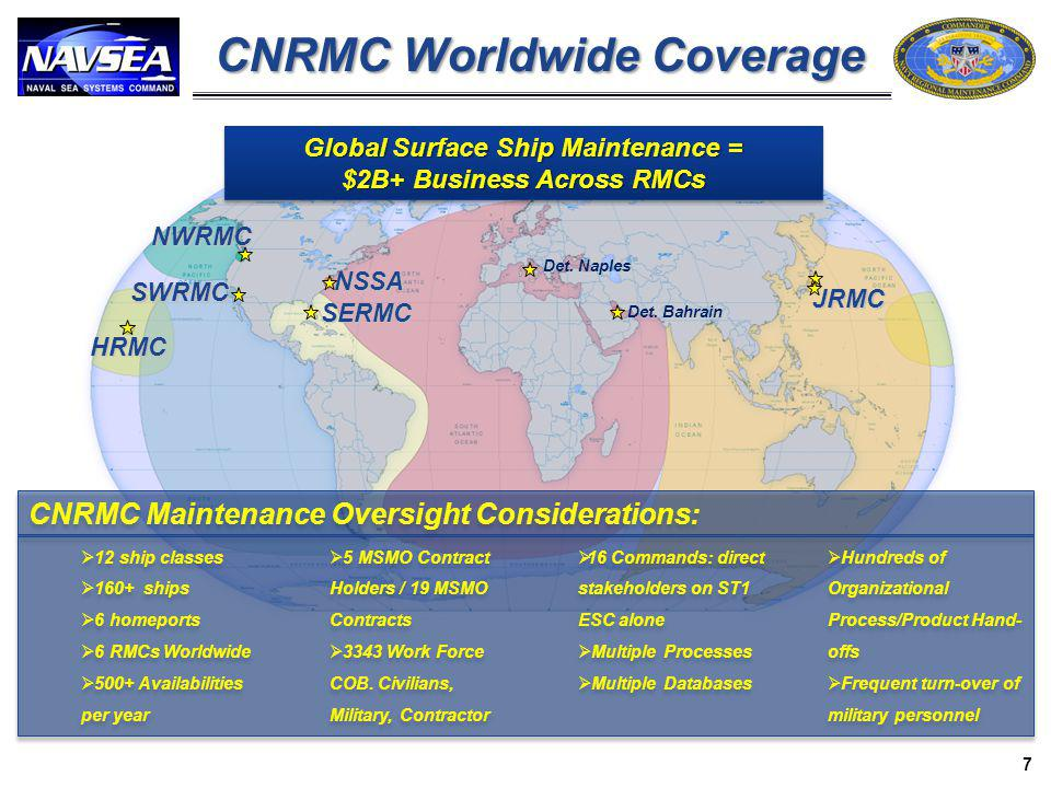 CNRMC Worldwide Coverage