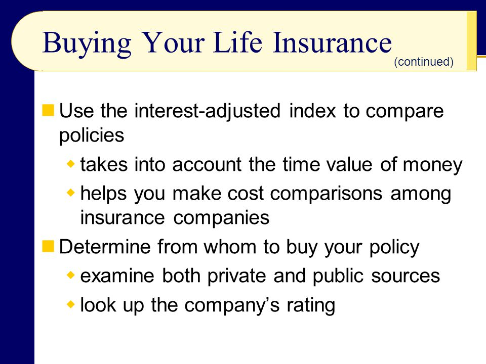 Buying Your Life Insurance