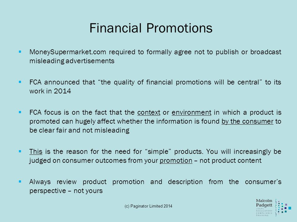 Financial Promotions MoneySupermarket.com required to formally agree not to publish or broadcast misleading advertisements.