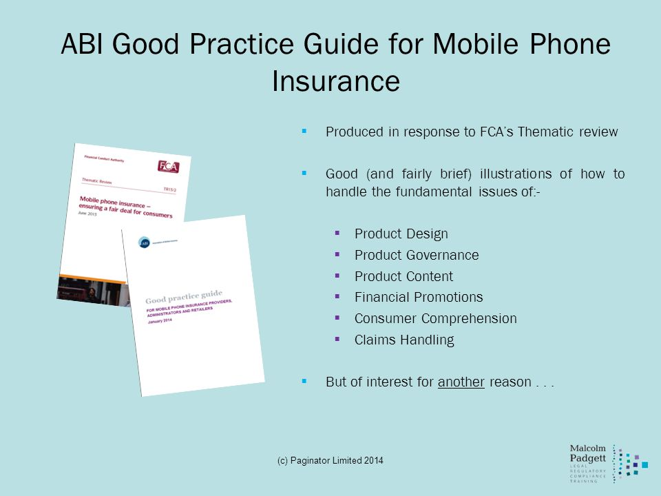 ABI Good Practice Guide for Mobile Phone Insurance