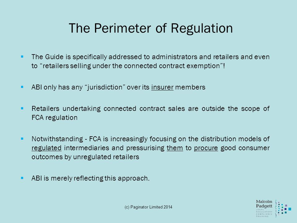 The Perimeter of Regulation
