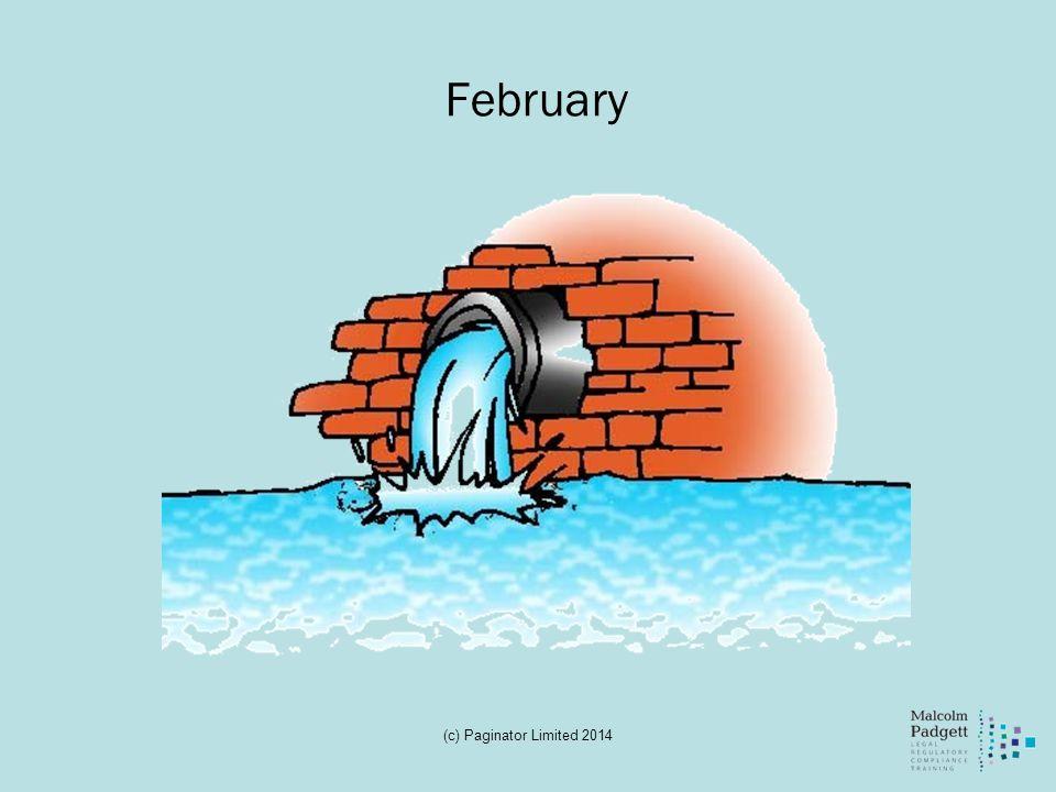 February (c) Paginator Limited 2014