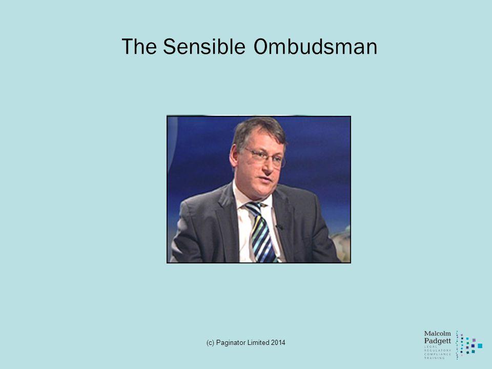 The Sensible Ombudsman