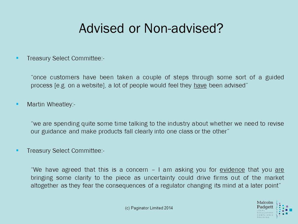 Advised or Non-advised