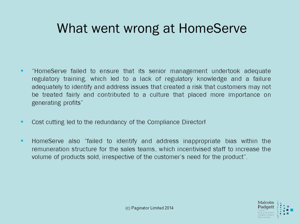 What went wrong at HomeServe