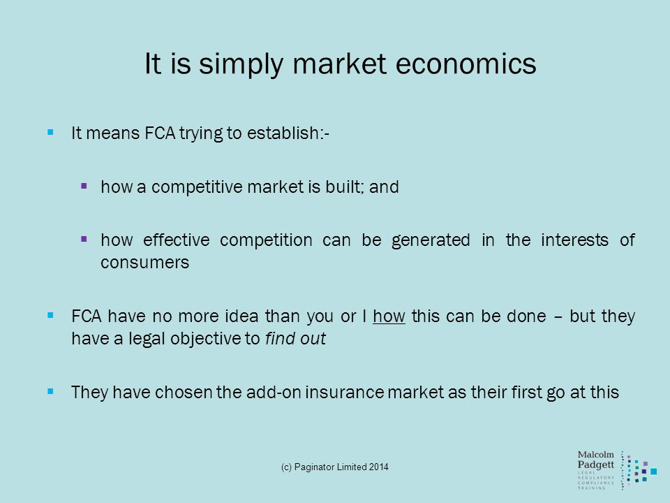 It is simply market economics