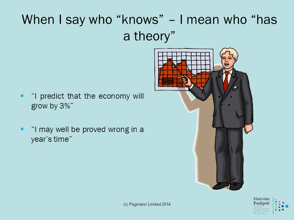 When I say who knows – I mean who has a theory