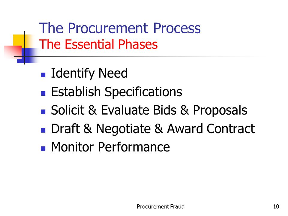 The Procurement Process The Essential Phases