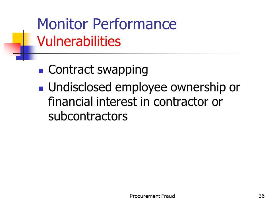Monitor Performance Vulnerabilities