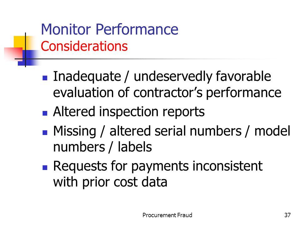 Monitor Performance Considerations