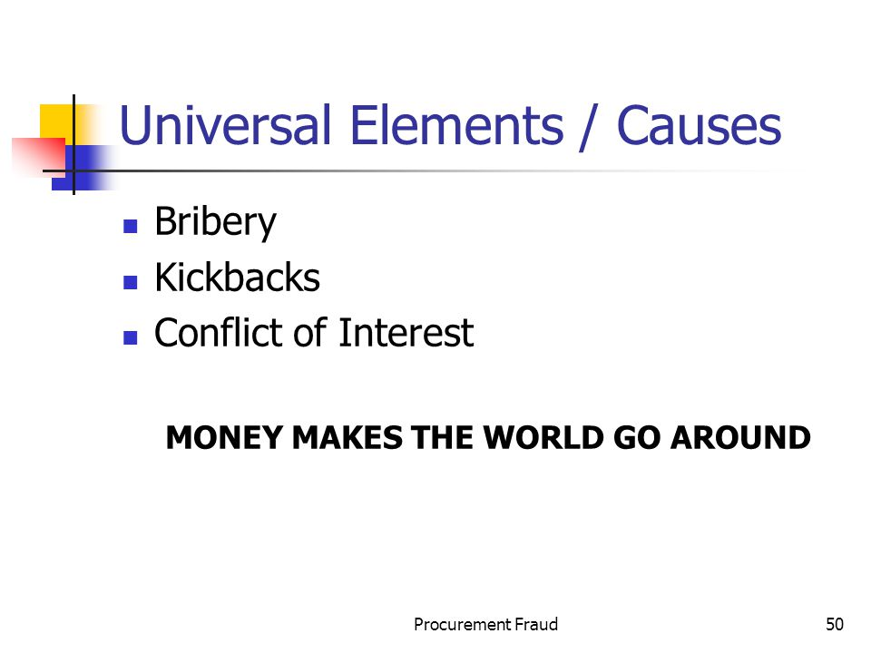 Universal Elements / Causes