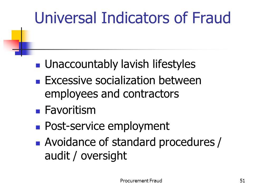 Universal Indicators of Fraud