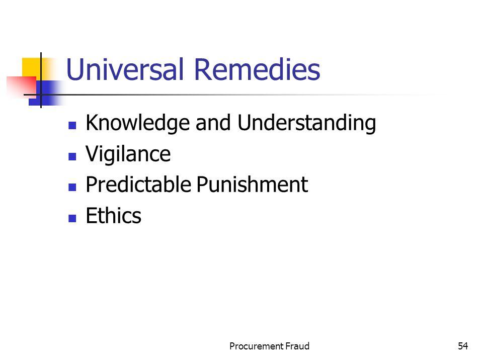 Universal Remedies Knowledge and Understanding Vigilance