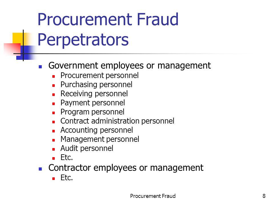 Procurement Fraud Perpetrators