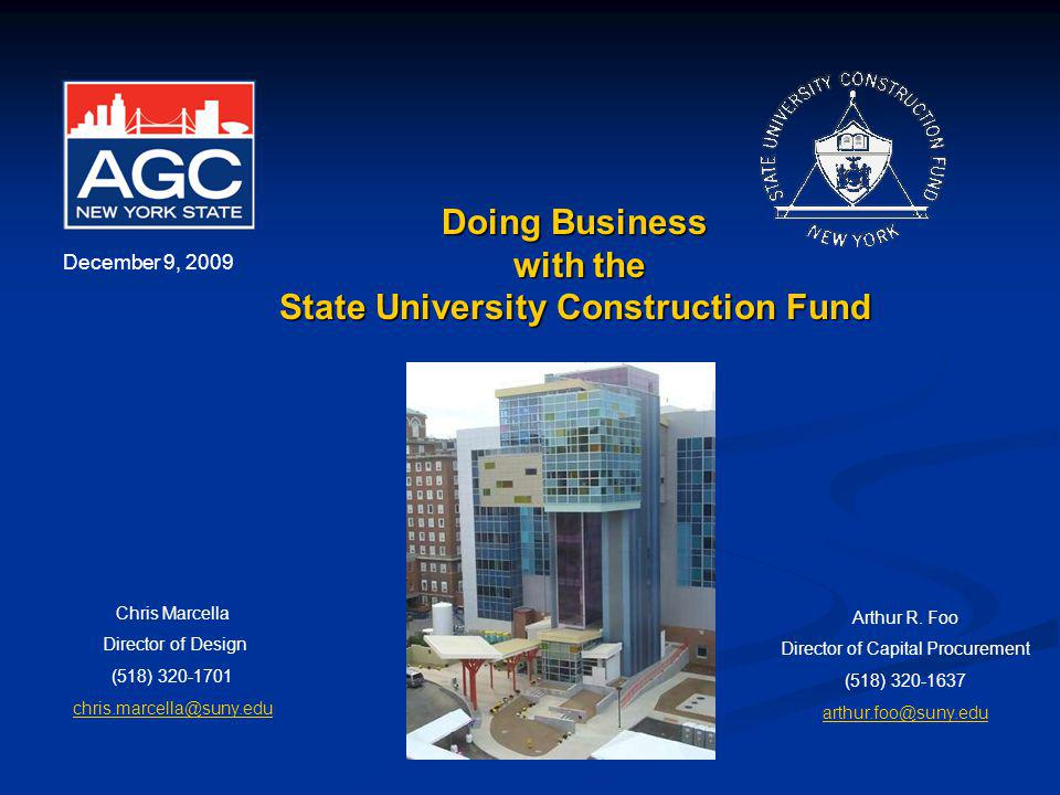 Table of Contents State University Construction Fund………………….2