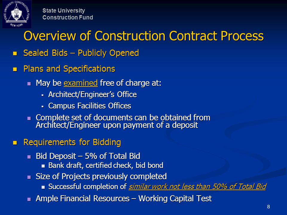 Overview of Construction Contract Process (continued)
