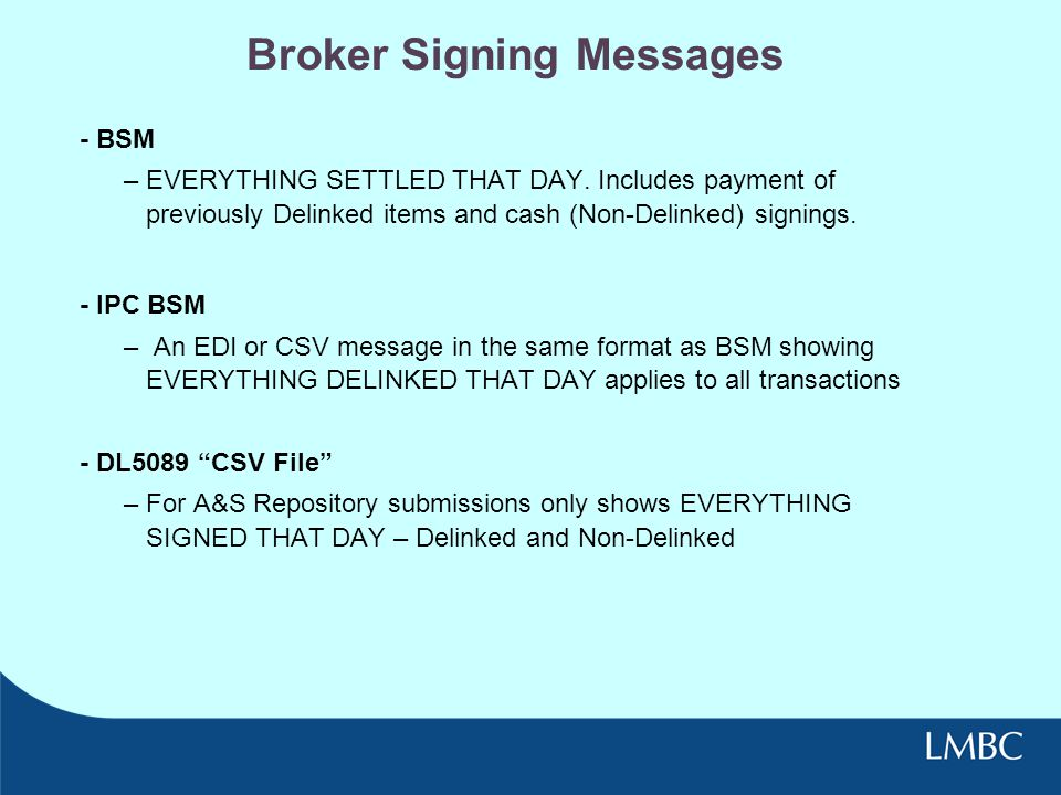 Broker Signing Messages
