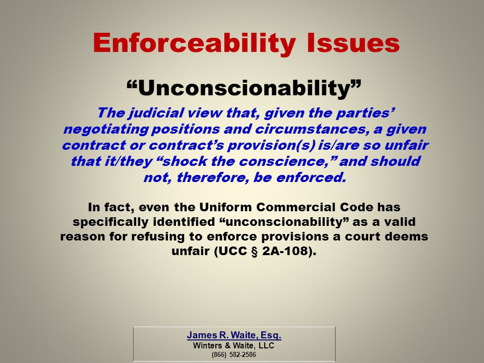 Enforceability Issues