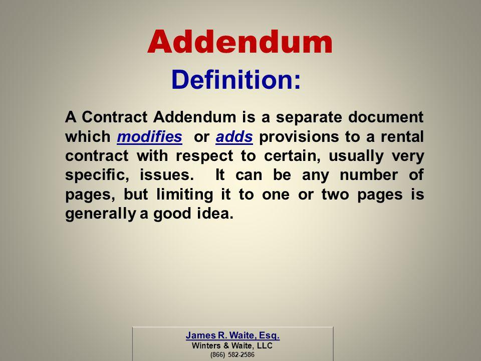 Addendum Definition: