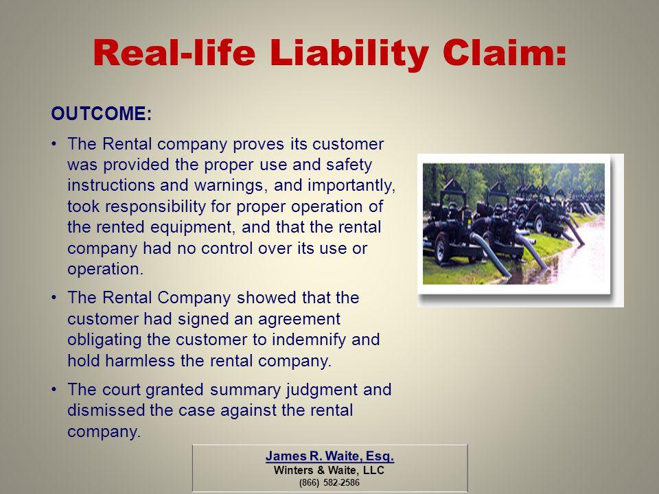 Real-life Liability Claim: