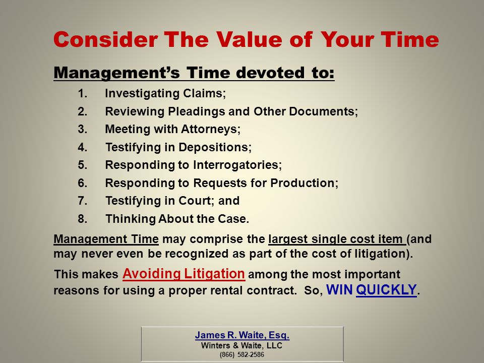 Consider The Value of Your Time