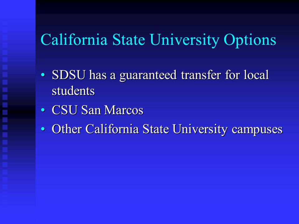 California State University Options