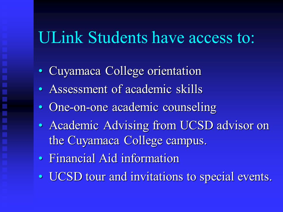 ULink Students have access to: