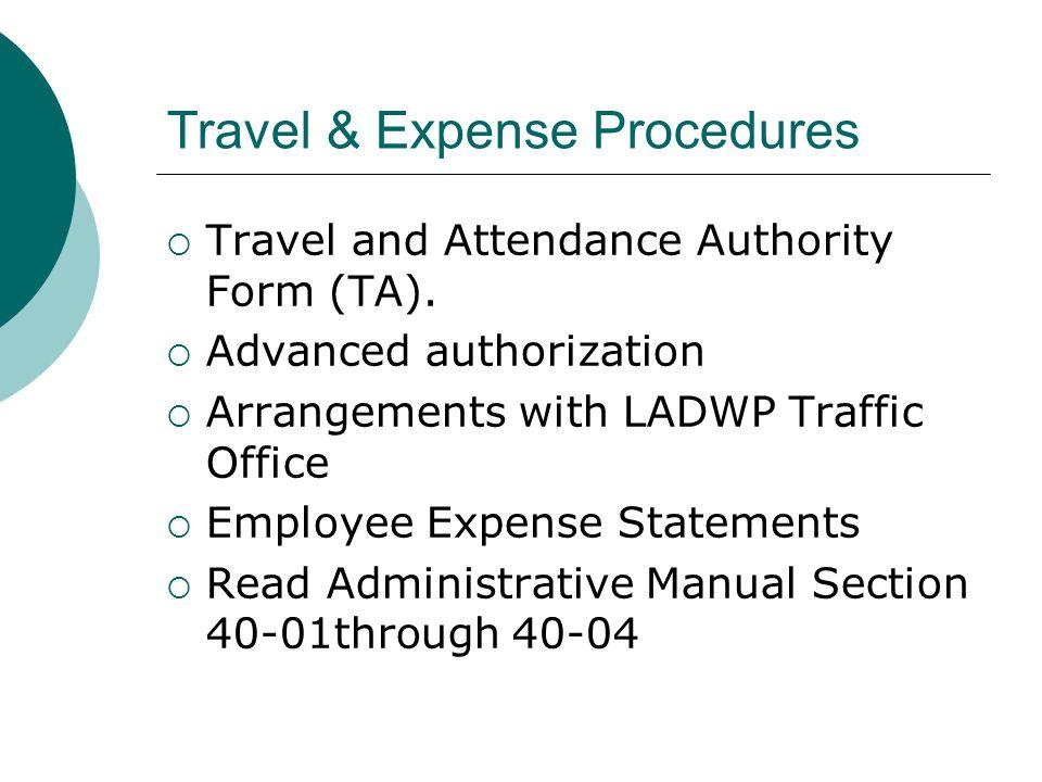 Travel & Expense Procedures