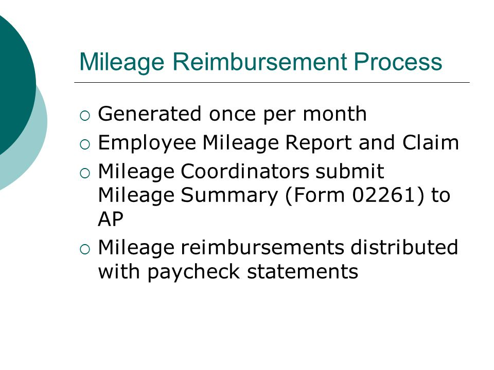 Mileage Reimbursement Process