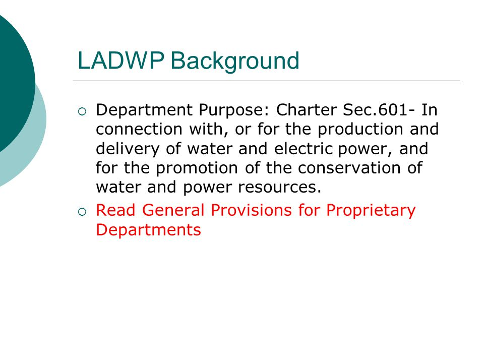 LADWP Background