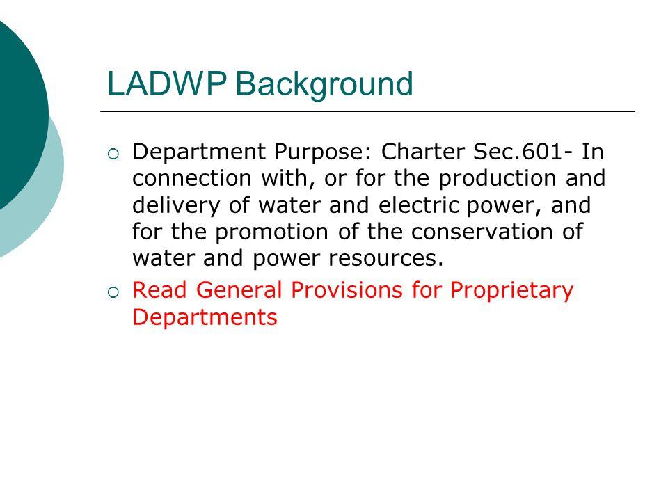 LADWP Background