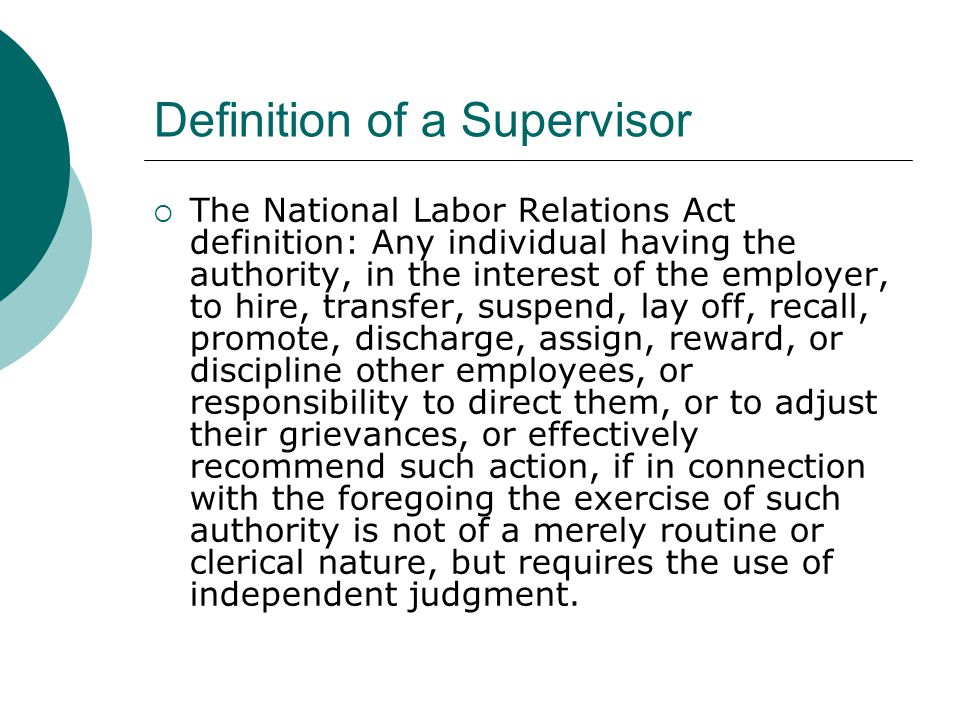 employee relations handbook for supervisors