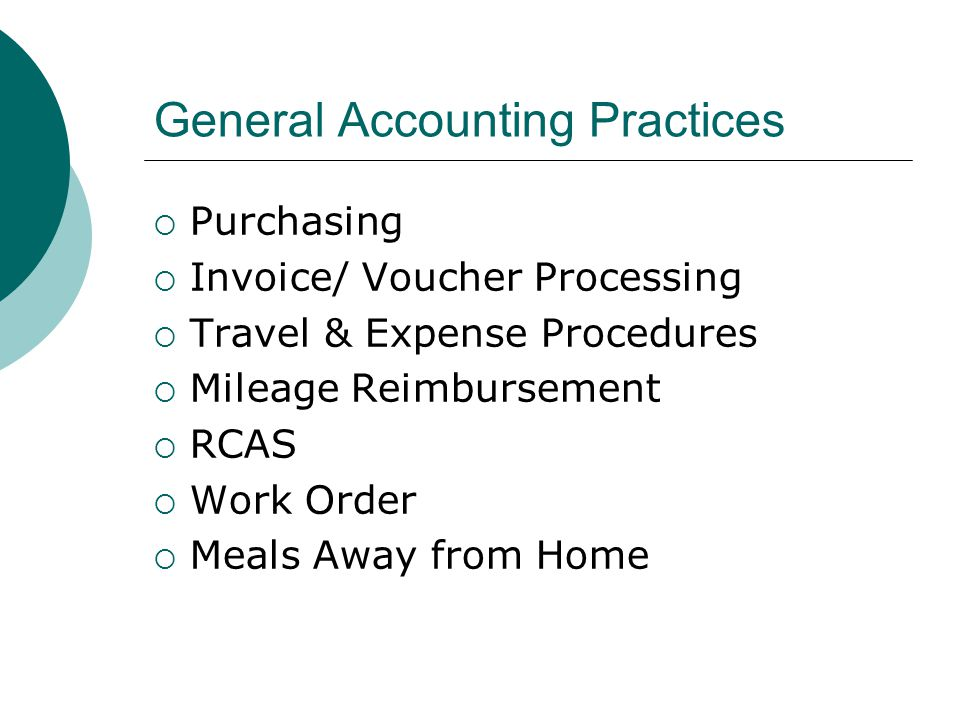 General Accounting Practices