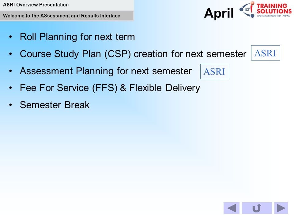 April Roll Planning for next term