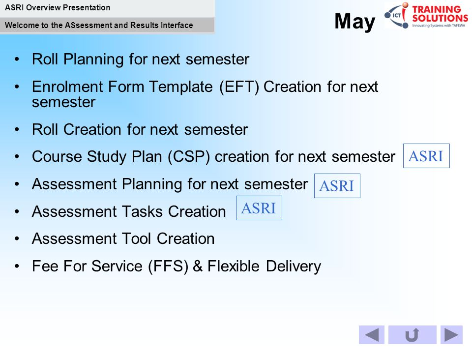 May Roll Planning for next semester