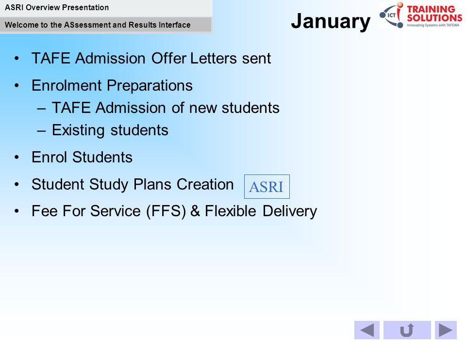 January TAFE Admission Offer Letters sent Enrolment Preparations